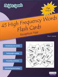 45 High Frequency Words (Flash Cards)